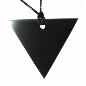 Triangular Shungite Pendant