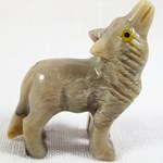 Soapstone Howlite Wolf (Small)