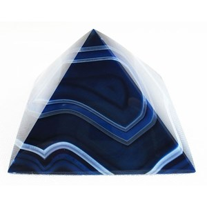 Blue Agate Pyramid (Large)