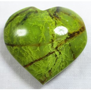 Green Opal Heart (Largeish)