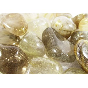 Rutilated Quartz Tumble Stones (X 3)