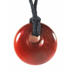 Carnelian Doughnut Necklace
