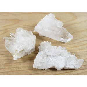 Rough Quartz Mini Clusters X 3