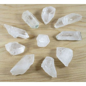 10 Piece Rough Quartz Point Grid Set