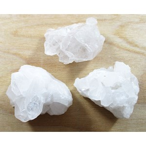 3 x Rough Quartz Mini Clusters