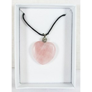 Rose Quartz and Zirconia Heart Pendant