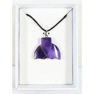 Amethyst Whale Tail Necklace REDUCED