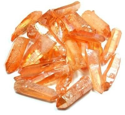 tangerine aura quartz points